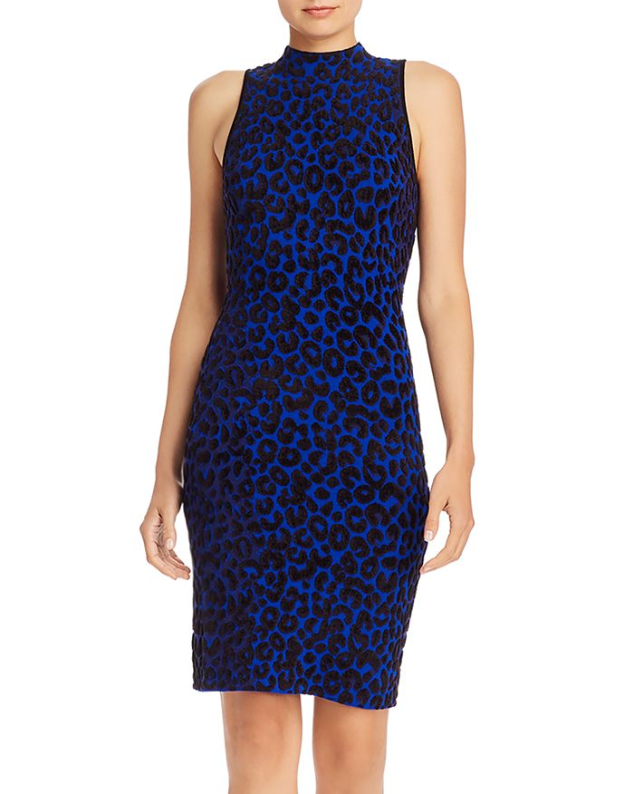 MILLY - Textured Leopard Bodycon Dress