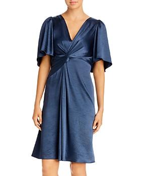 Elie Tahari - Silvana Sleeveless Printed Twist-Front Dress