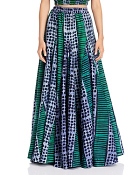 Studio One Eighty Nine - Alicia Printed Godet Maxi Skirt