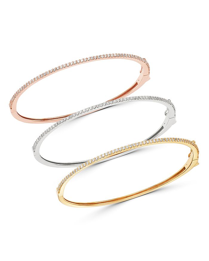 Bloomingdale's - Micro-Pave Diamond Stacking Bangle in 14K White Gold, 14K Rose Gold or 14K Yellow Gold - 100% Exclusive