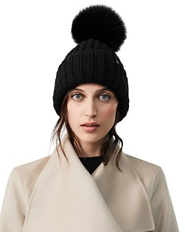 Mackage - Doris Fox Fur Pom-Pom Beanie