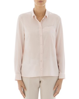 Peserico - Metallic-Trimmed Silk-Blend Button-Down Shirt