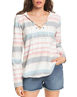 Roxy - Lace-Up Hooded Top