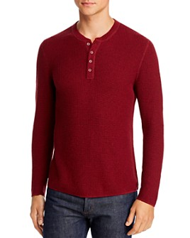 Original Penguin - Long Sleeve Waffle Henley - 100% Exclusive