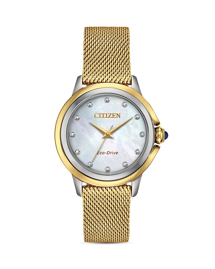Citizen CECI DIAMOND MOTHER-OF-PEARL DIAL WATCH, 32MM