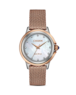 Ceci Diamond Mother-of-Pearl Dial Watch