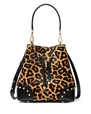 Michael Michael Kors Mercer Gallery Small Cheetah-Print Bucket Bag