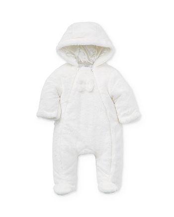 Little Me - Girls' Faux Fur Pram Suit - baby