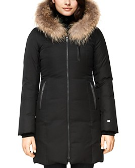 Soia & Kyo - Christy Fur-Trim Brushed Down Coat