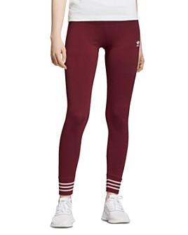 Adidas - Metallic-Stripe Jersey Leggings