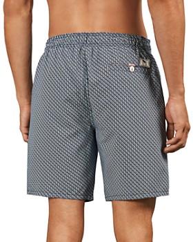 Ted Baker - Flags Mini Geo Branded Drawstring Swim Shorts