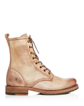 Frye - Women's Veronica Distressed Combat Boots