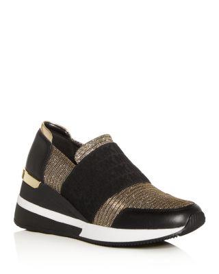 Felix Slip-on Wedge Sneakers In Black