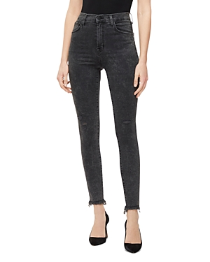 J Brand Jeans LEENAH HIGH-RISE ANKLE JEANS IN AFTER HOURS DESTRUCT