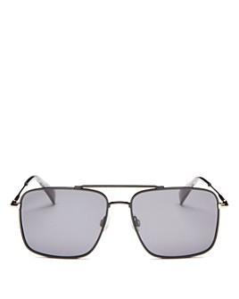 rag & bone - Men's Brow Bar Aviator Sunglasses, 57mm