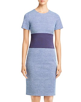 BOSS - Damalara Check-Print Sheath Dress