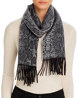 C by Bloomingdale's - Snake Cashmere Scarf - 100% Exclusive