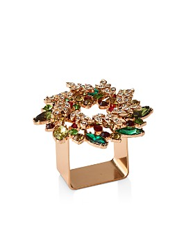 Kim Seybert - Wreath Napkin Ring, Set of 4