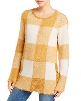 Single Thread - Fuzzy Plaid Sweater