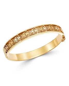 Bloomingdale's - Hamsa Oval Bangle Bracelet in 14K Yellow Gold - 100% Exclusive