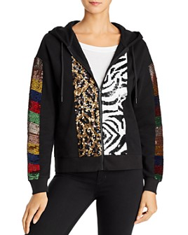 Alice and Olivia - Barron Sequined Hoodie