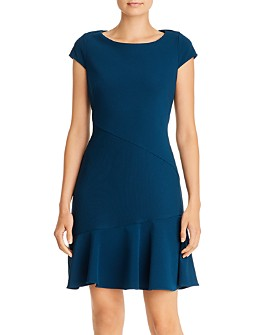 Adrianna Papell - Ottoman Fit-and-Flare Dress