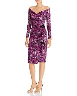 Chiara Boni La Petite Robe - Silveria Zebra Print Off-the-Shoulder Dress - 100% Exclusive