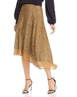 Joie - Marsie Asymmetric Matte Sequin Midi Skirt