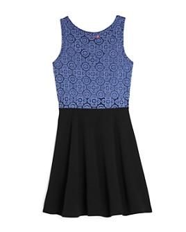 AQUA - Girls' Mixed-Media Color-Block Dress, Big Kid - 100% Exclusive