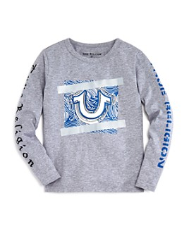 True Religion - Boys' Logo-Sleeve Graphic Tee - Little Kid, Big Kid