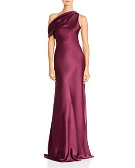 Cushnie - Draped One-Shoulder Silk Gown