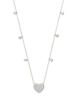 Bloomingdale's - Diamond Heart Pendant Necklace in 14K White Gold, 0.50 ct. t.w. - 100% Exclusive
