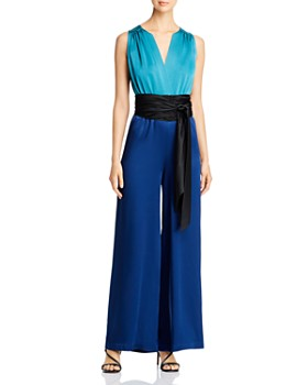 Carolina Ritzler - Irma Color-Blocked Wide-Leg Jumpsuit