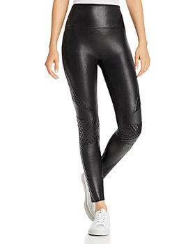 SPANX® - Faux Leather Quilted Leggings