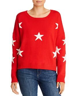 Theo & Spence - Oversized Star-Print Sweater