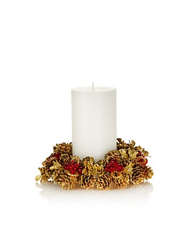 """Salzburg Creations - 4"""" Rustic Holiday Candle Ring"""