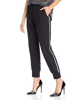 AQUA - Cropped Striped Jogger Pants - 100% Exclusive
