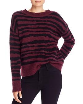 AQUA - Zebra-Print Sweater - 100% Exclusive