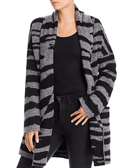 AQUA - Open-Front Zebra-Print Cardigan - 100% Exclusive