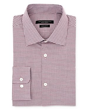 John Varvatos Star Usa Mini Tattersall Check Regular Fit Dress Shirt