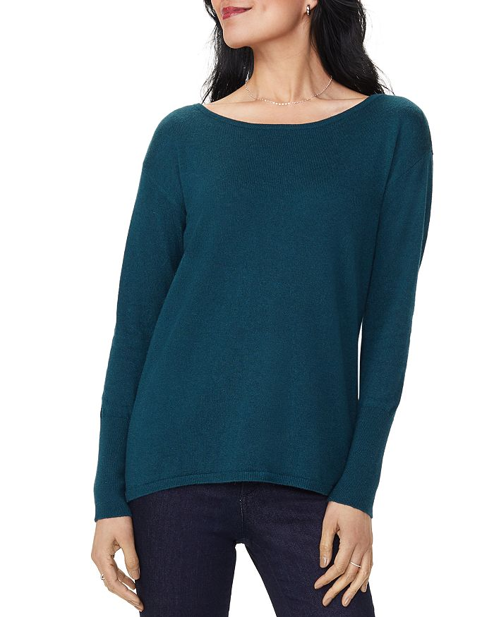 NYDJ - Button-Back Boatneck Sweater