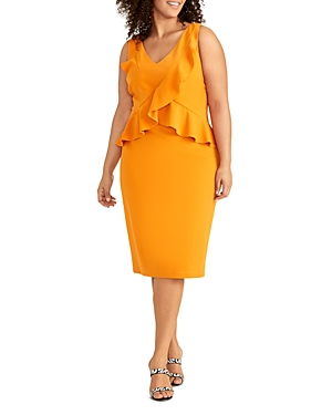 Rachel Roy Plus Nikita Ruffled Sheath Dress