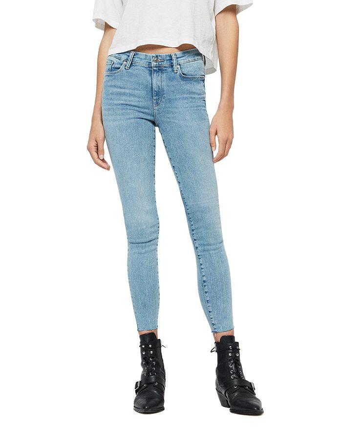 ALLSAINTS - Grace Ankle Fray Skinny Jeans in Light Indigo