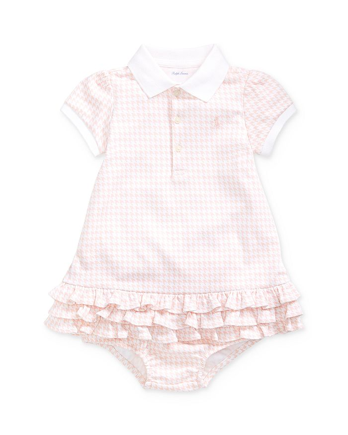 Ralph Lauren - Girls' Houndstooth Polo Dress & Bloomers Set - Baby