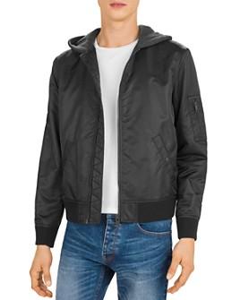 The Kooples - Bomber Jacket with Fleece Hood