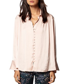 Zadig & Voltaire - Trent Satin Button-Down Shirt