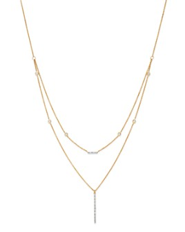 Moon & Meadow - Diamond Bar Station Layered Necklace in 14K Yellow Gold, 0.21 ct. t.w. - 100% Exclusive