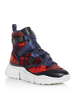 Chloe Women's Sonnie Plaid High-Top Sneakers