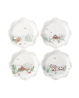 Juliska - Berry & Thread North Pole Scalloped Dessert/Salad Plate, Set of 4