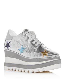 Stella McCartney - Women's Star Platform Wedge Sneakers
